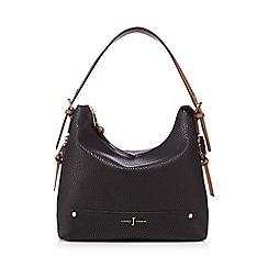 J by Jasper Conran - Black zip detail shoulder bag