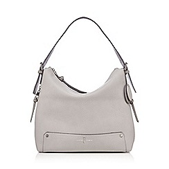 J by Jasper Conran - Grey zip detail shoulder bag