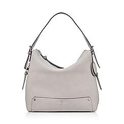 J by Jasper Conran - Grey zip detail shoulder bag