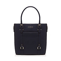J by Jasper Conran - Navy zip detail shopper bag