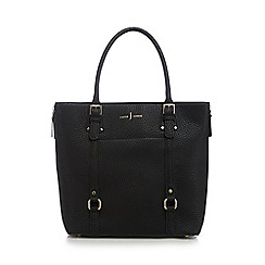 J by Jasper Conran - Black zip detail shopper bag
