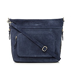 J by Jasper Conran - Blue suede pocket front cross body bag