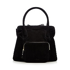 J by Jasper Conran - Black suede front pocket tote bag