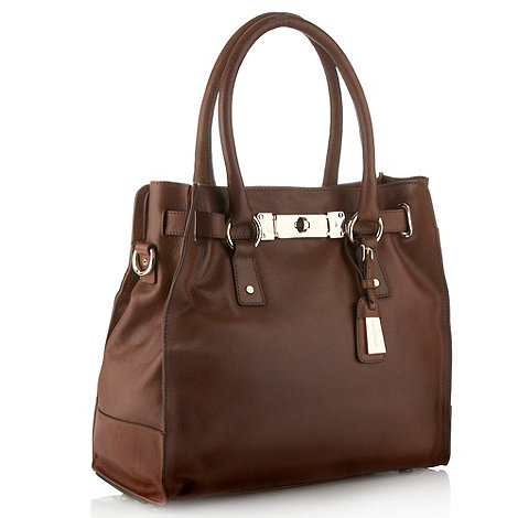 J by Jasper Conran - Designer brown leather tote bag