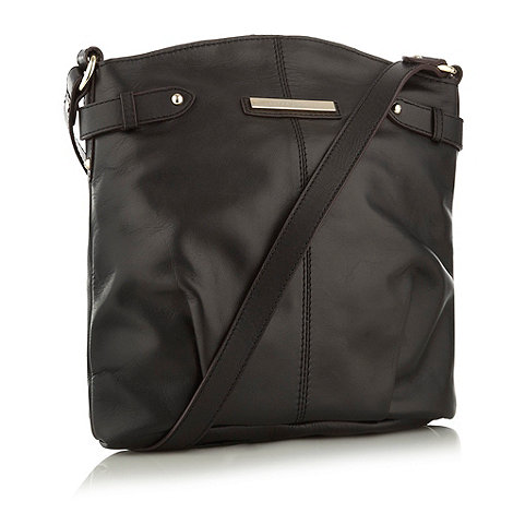 J by Jasper Conran - Designer black curved across body bag