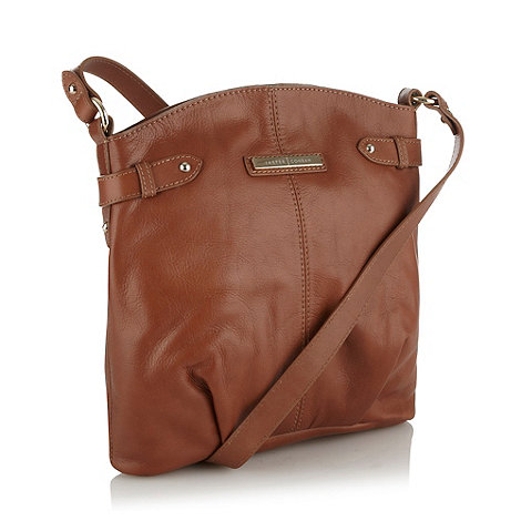 J by Jasper Conran - Designer tan curved leather across body bag