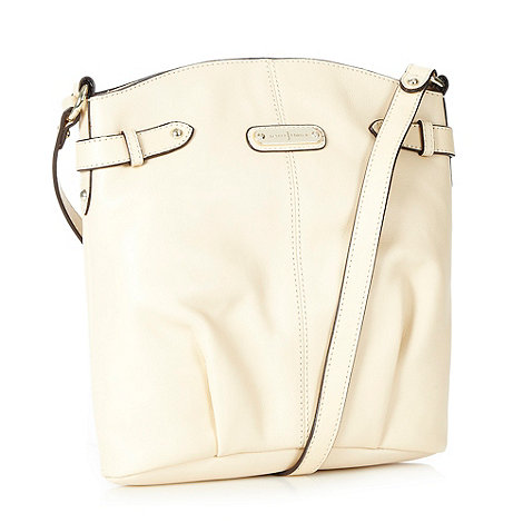 J by Jasper Conran - Designer cream leather curved cross body bag