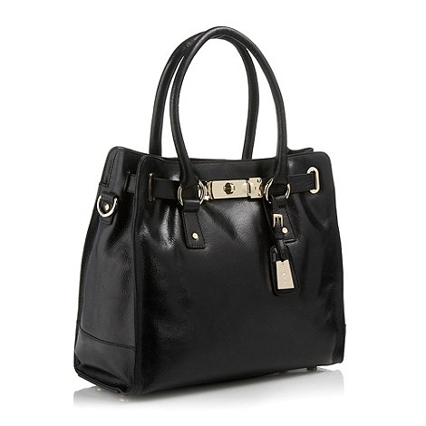 J by Jasper Conran - Designer black leather tote bag