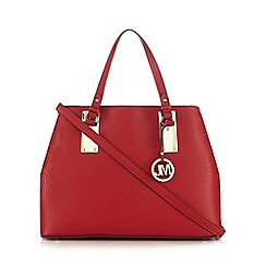 Star by Julien Macdonald - Red grained three compartment shoulder bag