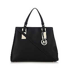 Star by Julien Macdonald - Black grained three compartment shoulder bag