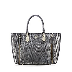 Star by Julien Macdonald - Silver zip detail grab bag
