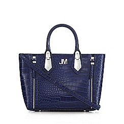 Star by Julien Macdonald - Bright blue croc-effect textured grab bag