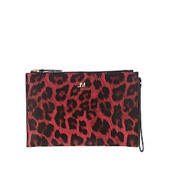 Star by Julien Macdonald - Bright pink leopard print clutch bag