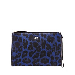 Star by Julien Macdonald - Bright blue leopard print clutch bag
