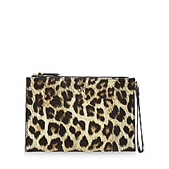 Star by Julien Macdonald - Black leopard print clutch bag