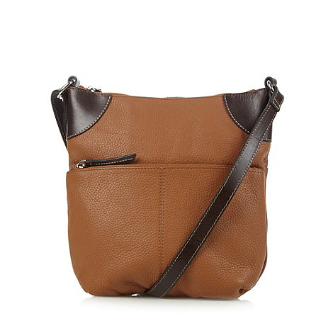 Principles by Ben de Lisi - Designer tan leather cross body bag