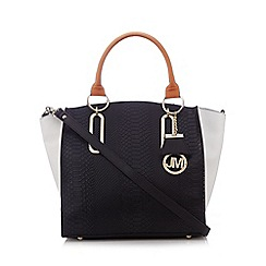 Star by Julien Macdonald - Black textured colour block large grab bag