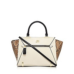 Star by Julien Macdonald - Cream snakeskin-effect tote bag