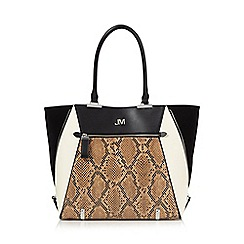 Star by Julien Macdonald - Black zip front winged shopper bag