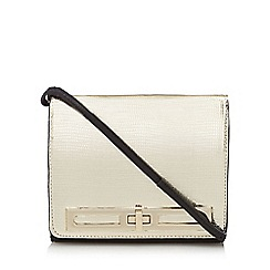 Star by Julien Macdonald - Gold textured twist lock cross body bag