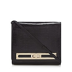 Star by Julien Macdonald - Black textured twist lock cross body bag