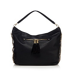 Star by Julien Macdonald - Black chain detail large shoulder bag