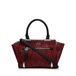 Star by Julien Macdonald - Red snakeskin-effect small tote bag
