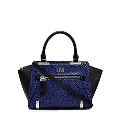 Star by Julien Macdonald - Blue snakeskin-effect small tote bag