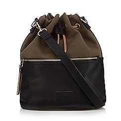 Principles by Ben de Lisi - Khaki and black colour block duffle bag