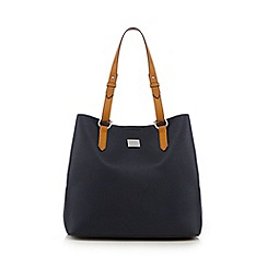 Principles by Ben de Lisi - Navy textured shopper bag