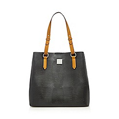 Principles by Ben de Lisi - Black textured shopper bag