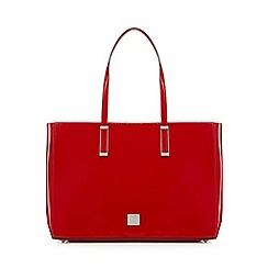 Principles by Ben de Lisi - Red patent textured shopper bag