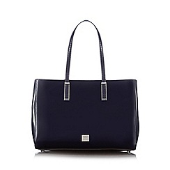 Principles by Ben de Lisi - Navy patent textured shopper bag