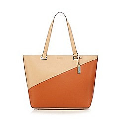 Principles by Ben de Lisi - Orange colour block shopper bag