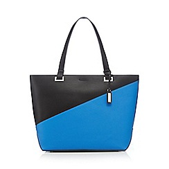 Principles by Ben de Lisi - Blue colour block shopper bag