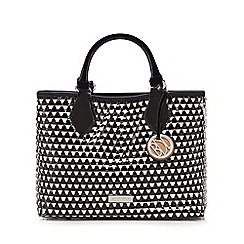 Principles by Ben de Lisi - Black patent woven mini grab bag