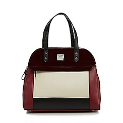 Principles by Ben de Lisi - Dark red colour block dome bag
