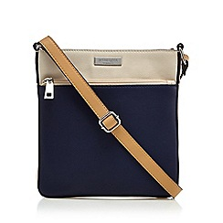 Principles by Ben de Lisi - Navy front zip cross body bag
