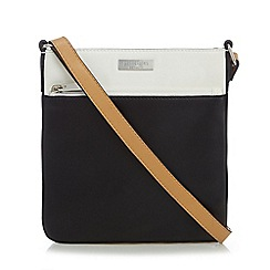 Principles by Ben de Lisi - Black and cream logo plate cross body bag