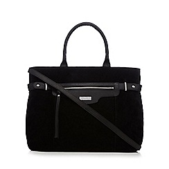 Principles by Ben de Lisi - Black suede zip large grab bag