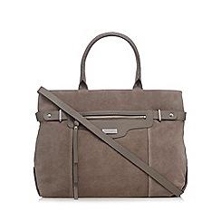 Principles by Ben de Lisi - Grey suede zip large grab bag