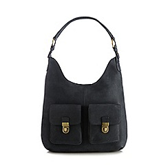 Principles by Ben de Lisi - Navy nubuck two pocket shoulder bag