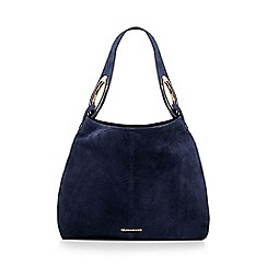 RJR.John Rocha - Navy suede ring detail shoulder bag