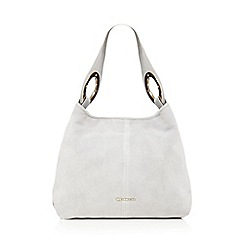 RJR.John Rocha - Grey suede ring detail shoulder bag