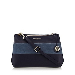 RJR.John Rocha - Navy suede panel cross body bag