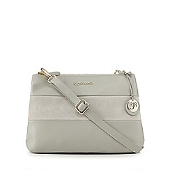 RJR.John Rocha - Grey suede panel cross body bag