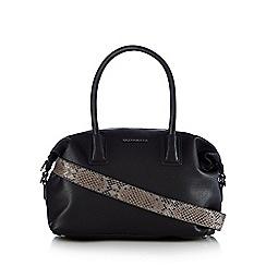 RJR.John Rocha - Black textured bowler bag
