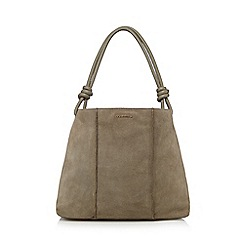 RJR.John Rocha - Grey 'RJR.John Rocha' suede leather shoulder bag