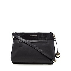 RJR.John Rocha - Black leather textured trim cross body bag