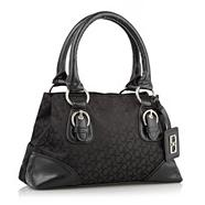 Black jacquard chain link grab bag
